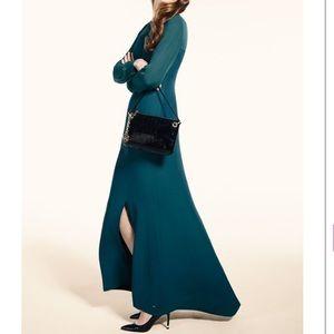 Tommy Hilfiger emerald longsleeved maxi dress gown